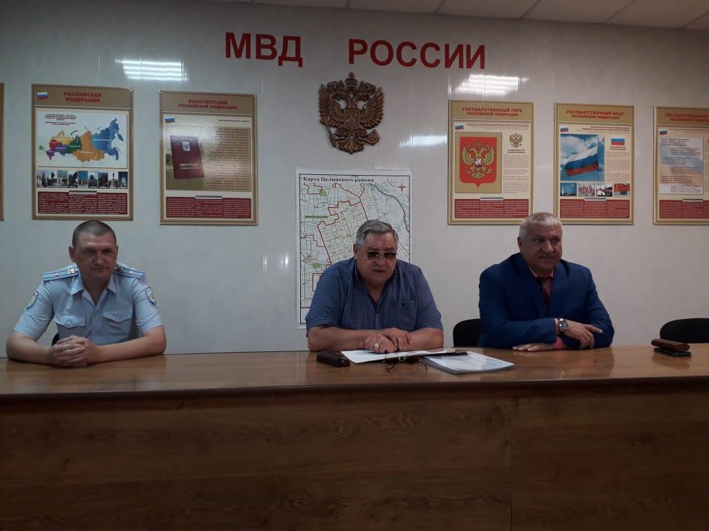 Общественный совет при ОМВД России по Целинскому району продолжил работу