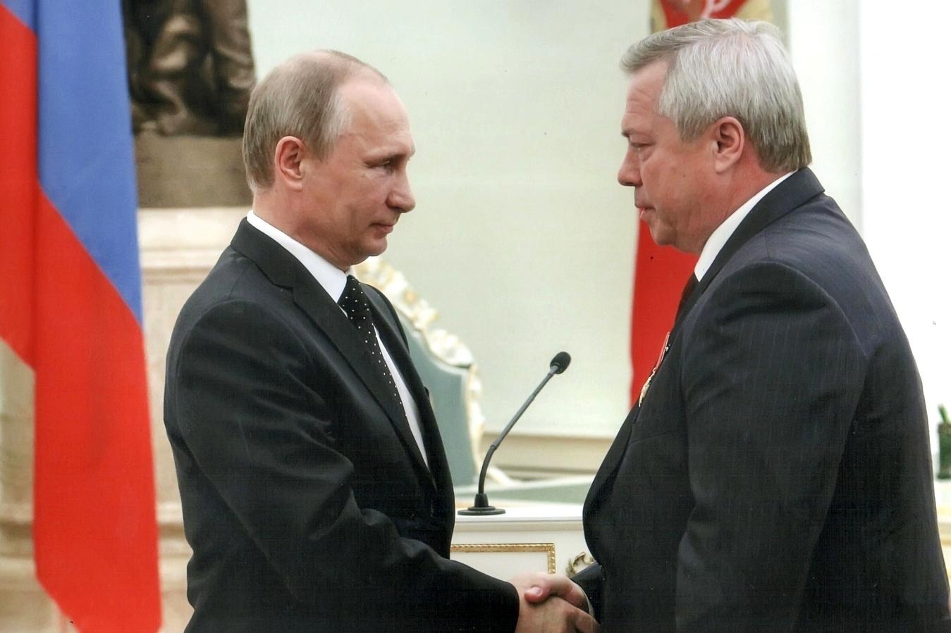 Владимир Путин отметил заслуги Василия Голубева