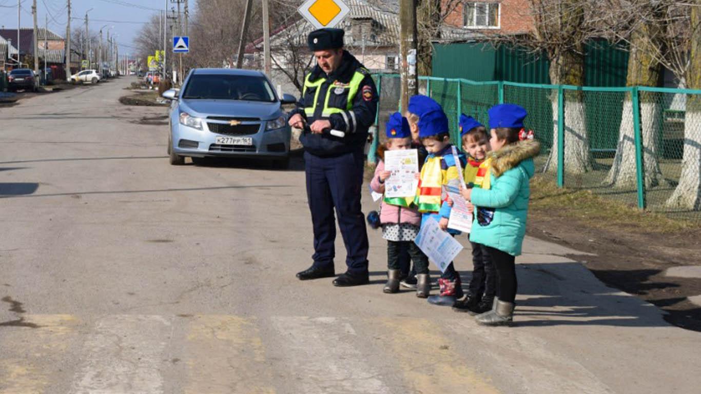 В Целинском районе юные инспекторы вышли на дорогу