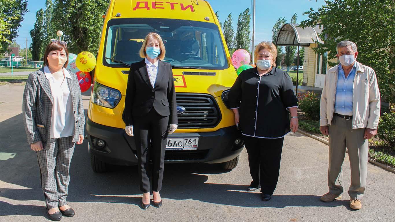 Новые автобусы для школ района