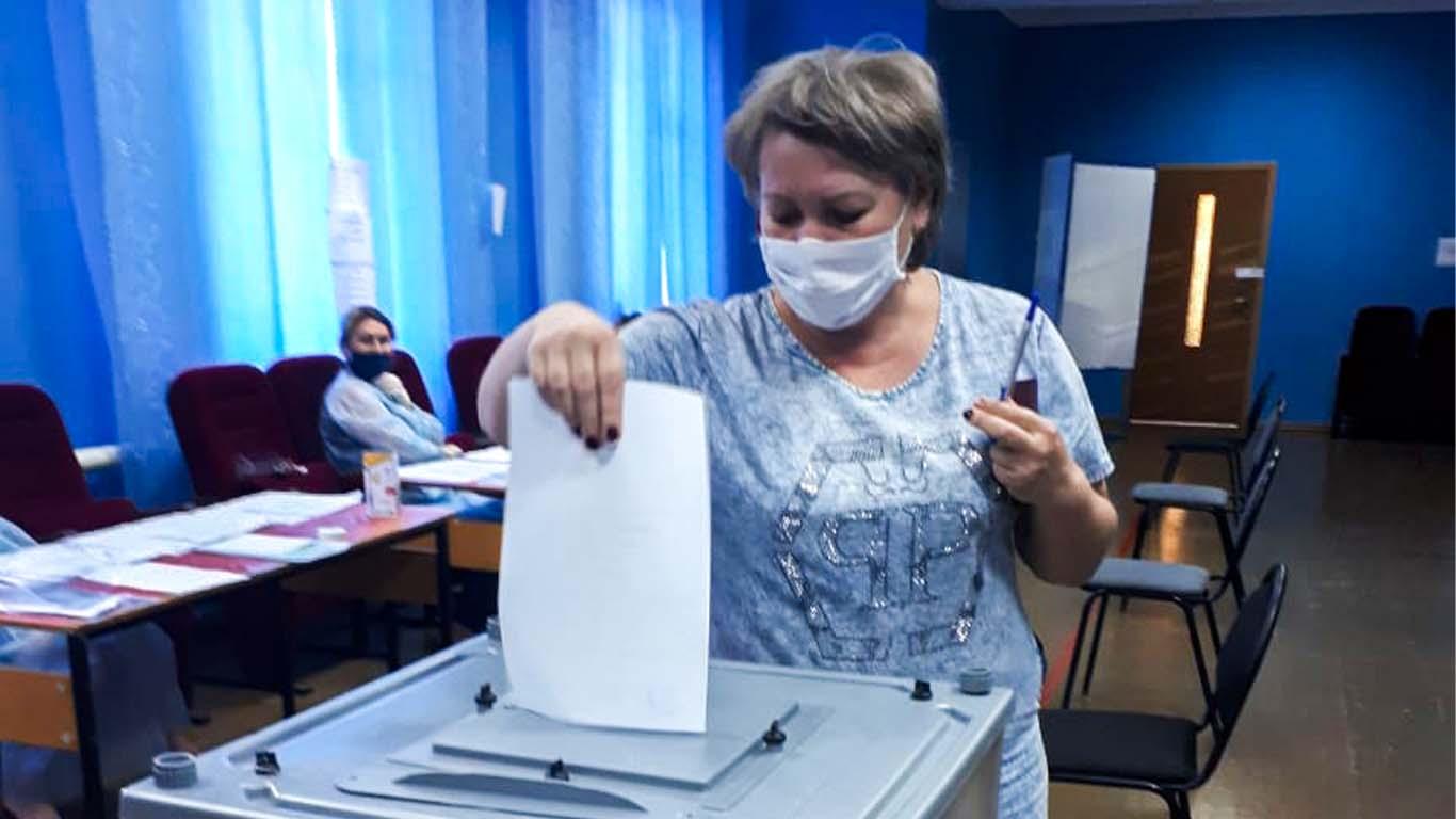 В Целинском районе голосование идет полным ходом