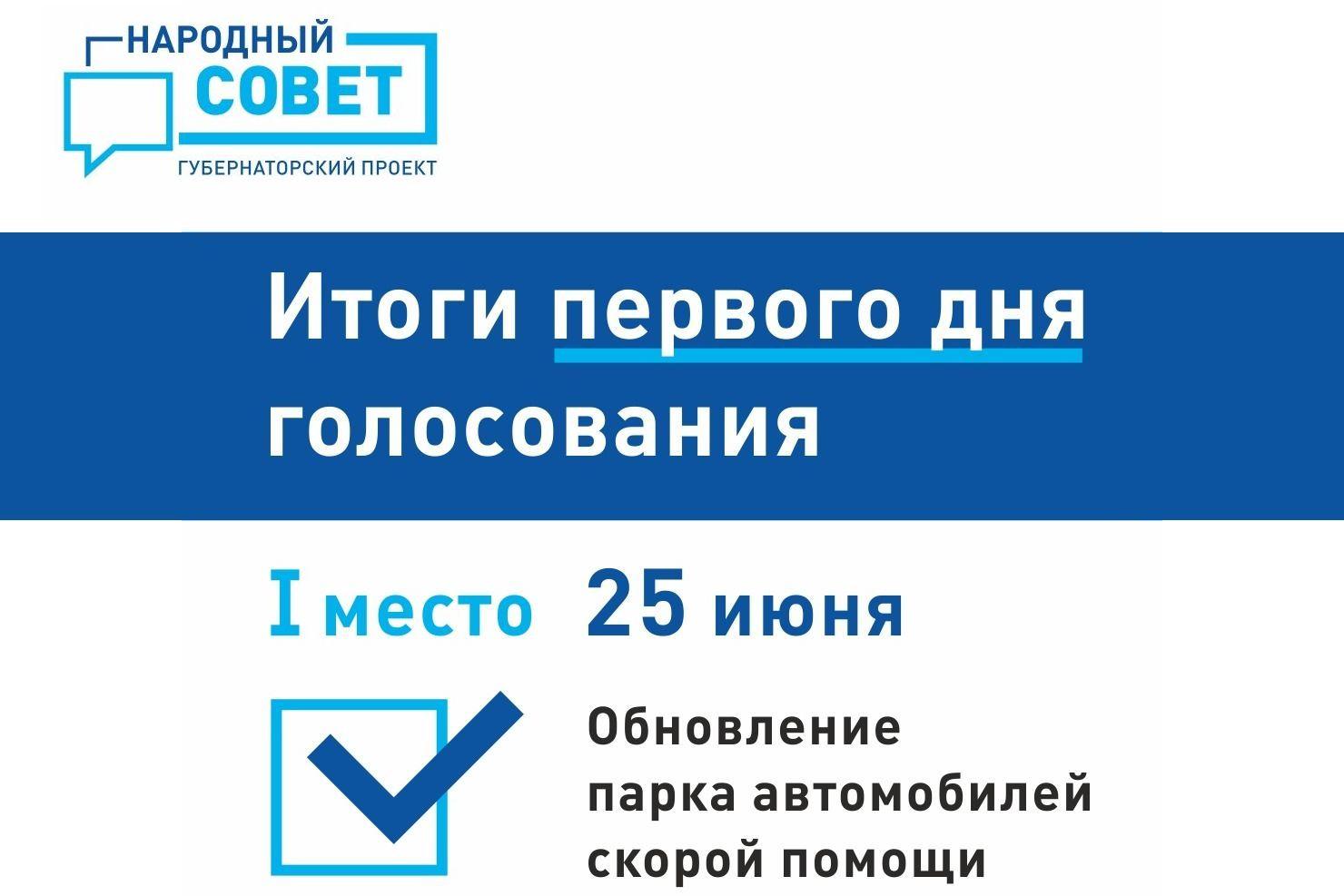 Поведены первые итоги голосования в рамках губернаторского проекта «Народный совет»