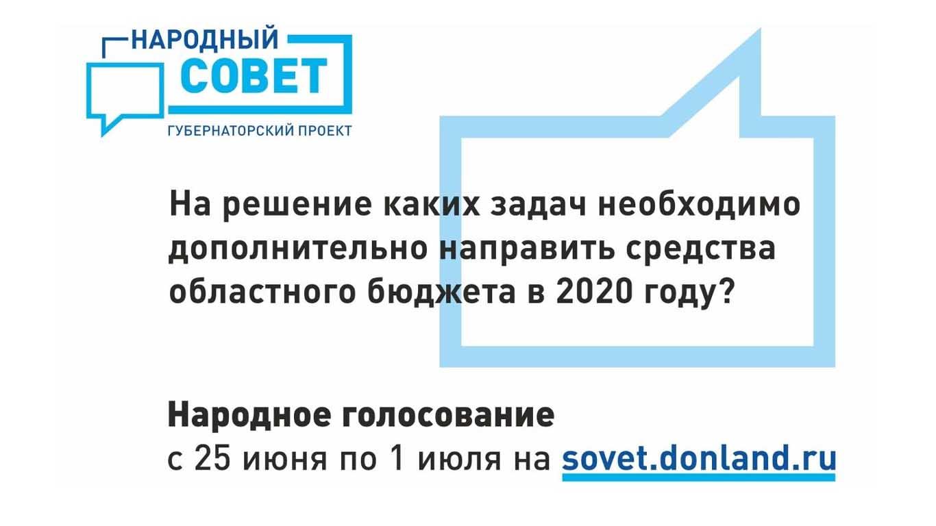 На Дону начинается голосование за приоритетные направления финансирования