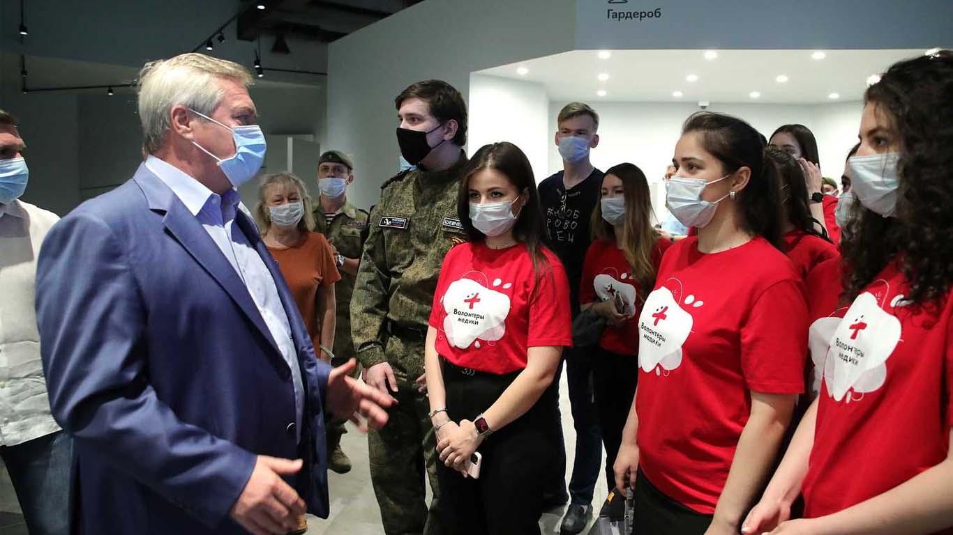 Василий Голубев обсудил с молодежью поправки в Конституцию, развитие волонтерства и электоральные перспективы