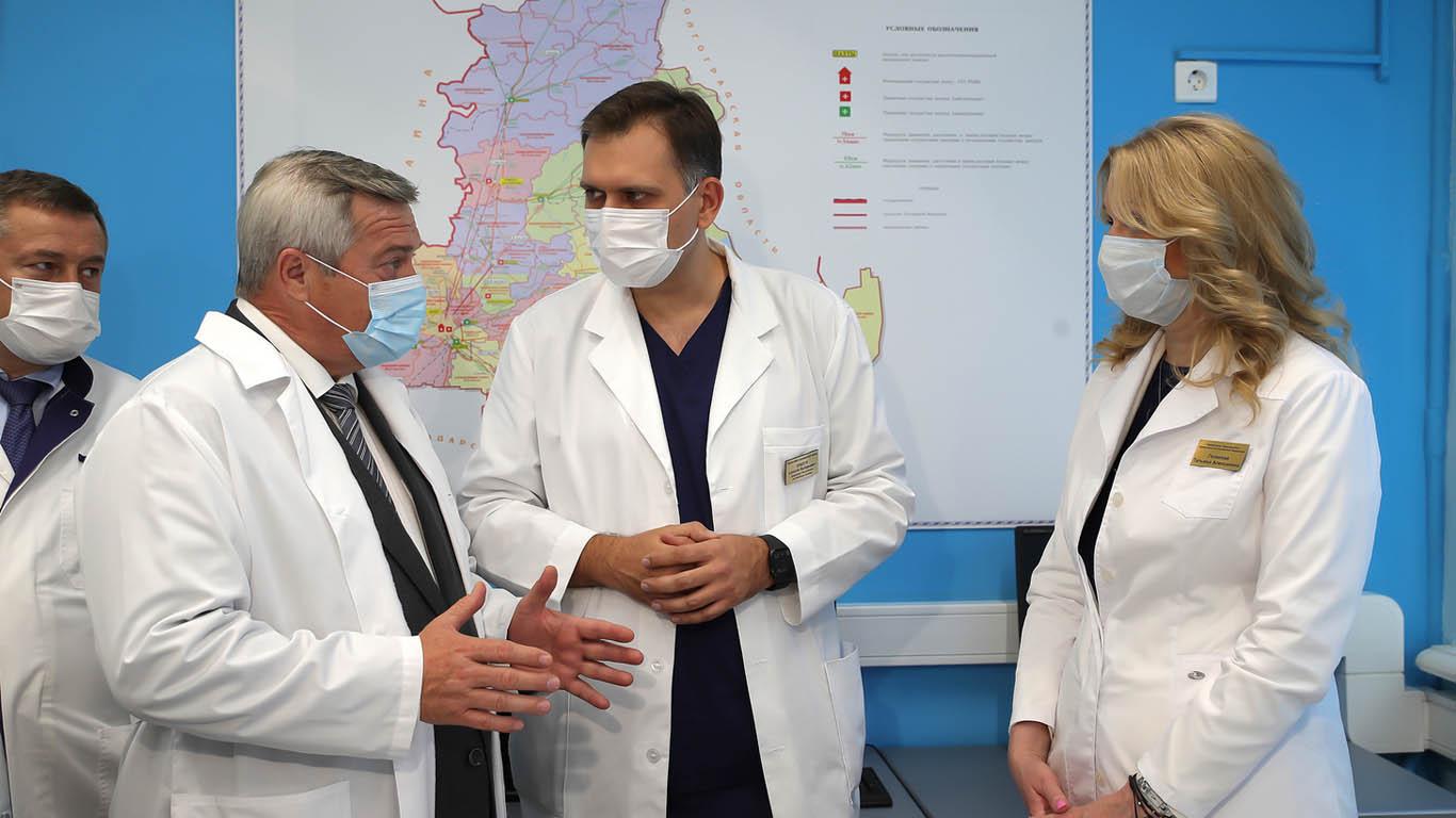 Развитие донского здравоохранения обсудили вице-премьер Татьяна Голикова и губернатор Василий Голубев