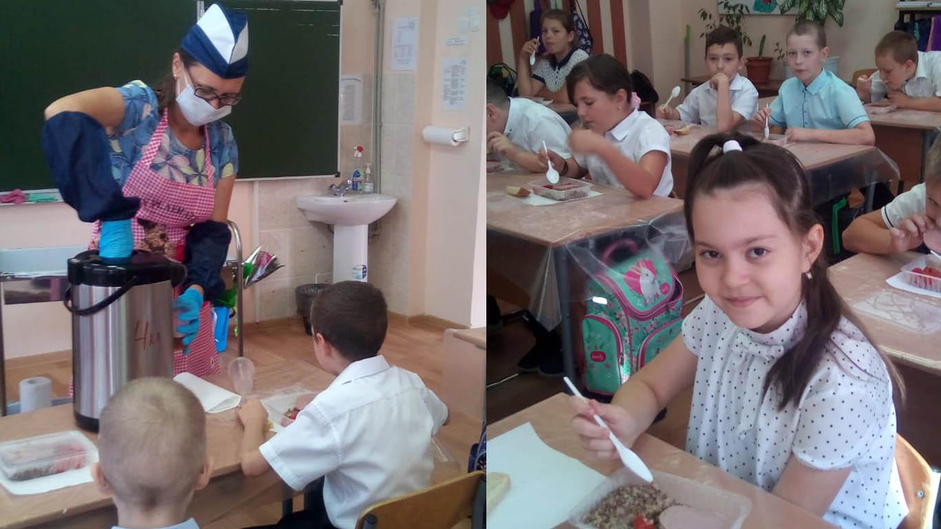 В Целинском районе бесплатное питание ученики оценили по достоинству