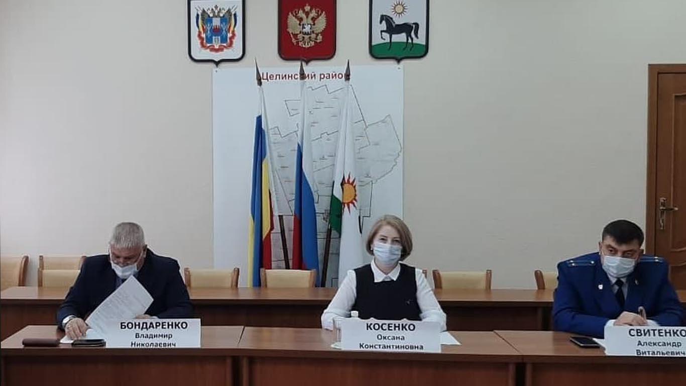 В Целинском районе подвели итоги работы координационного совета по обеспечению правопорядка