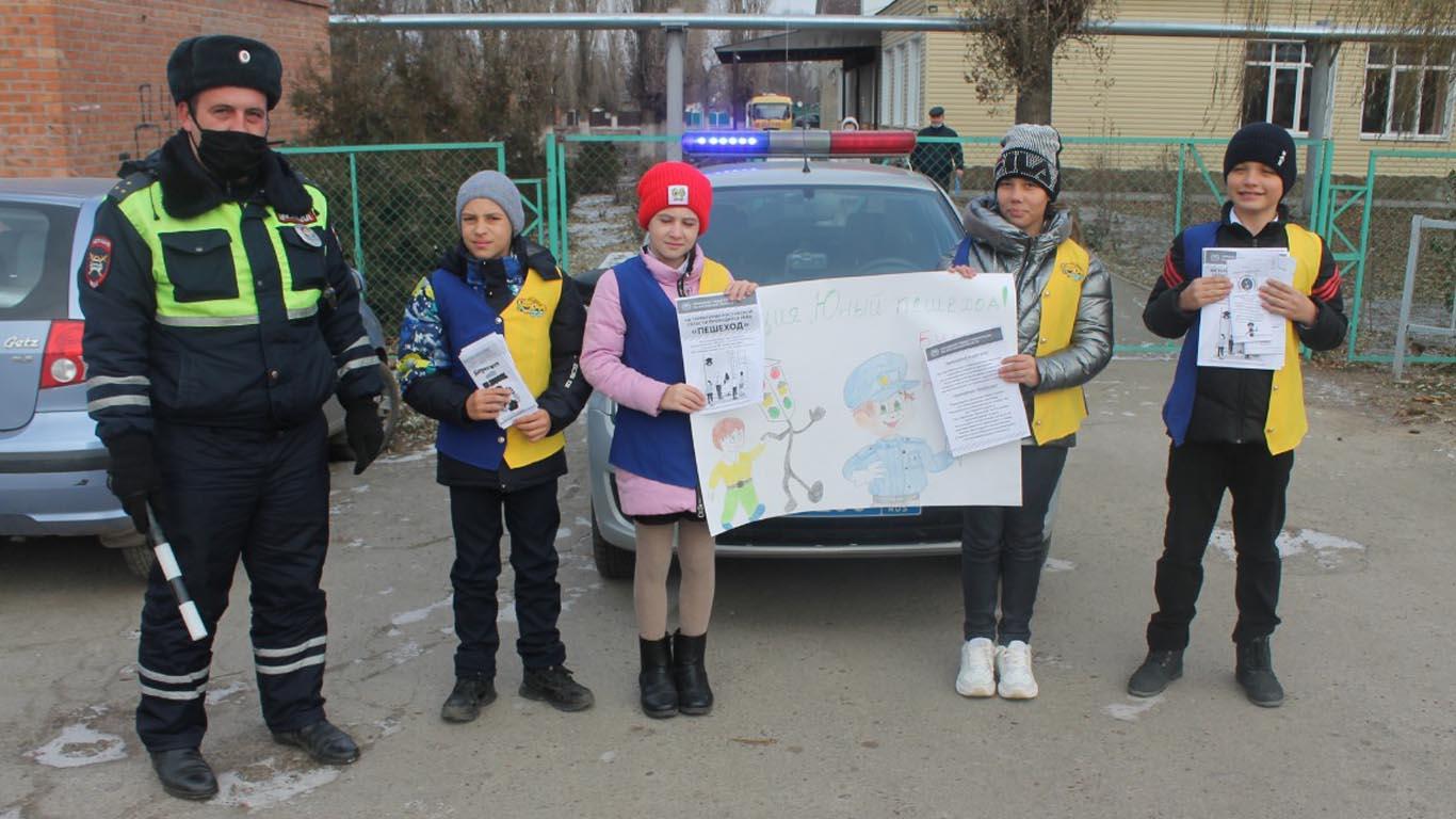 В Целинском районе провели акцию «Пешеход»