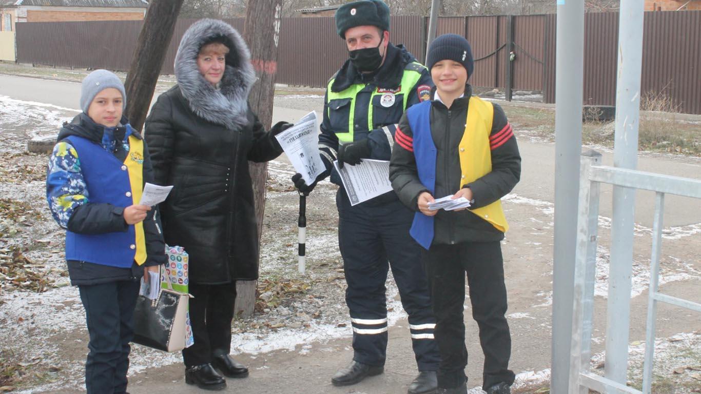 Целинские госавтоинспекторы заботятся о недопущении ДТП с участием детей