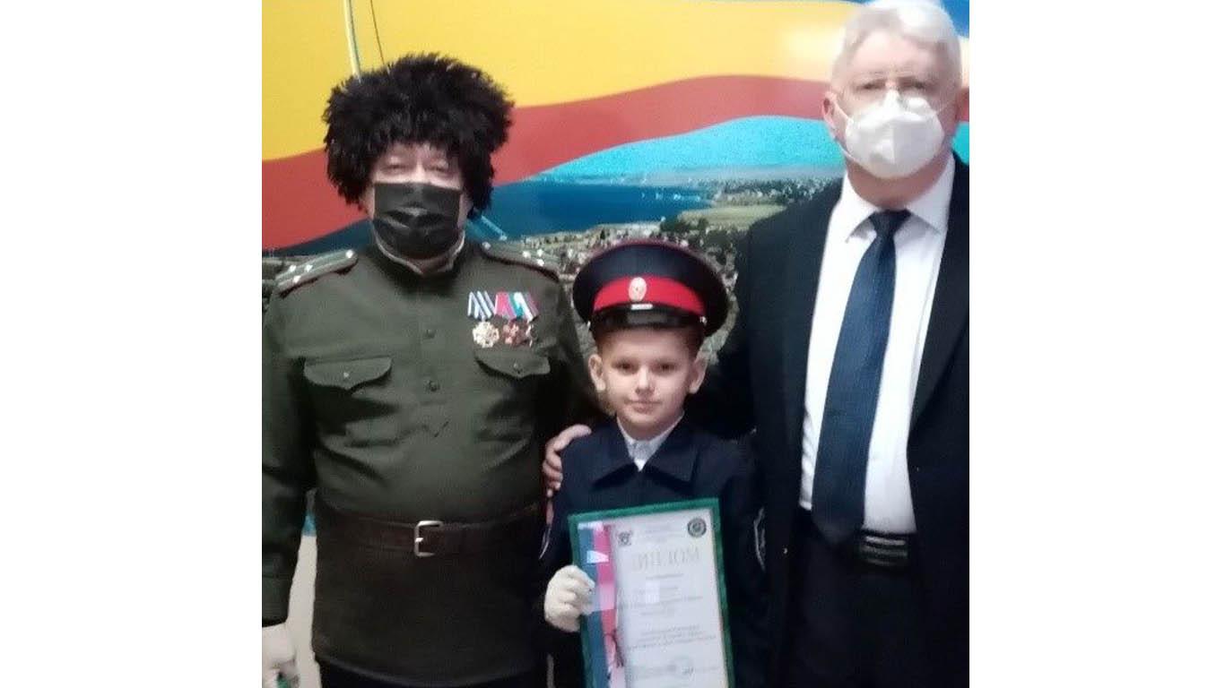 Ученик Среднеегорлыкской школы — в числе победителей регионального конкурса казачьей тематики
