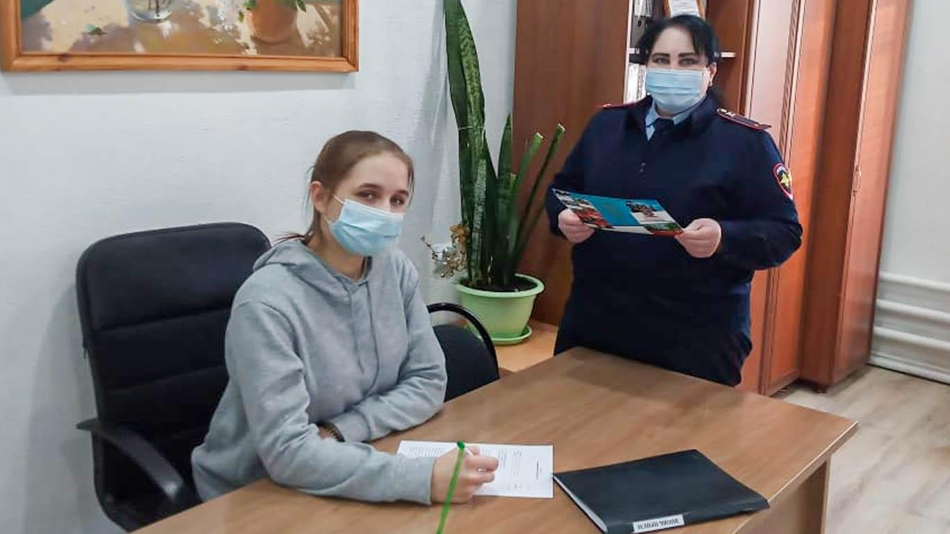 В Целинском ОМВД прошли встречи сотрудников с будущими студентами учебных заведений МВД РФ