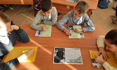 Четвероклассники Целинской школы №1 рассказали о защитниках Отечества