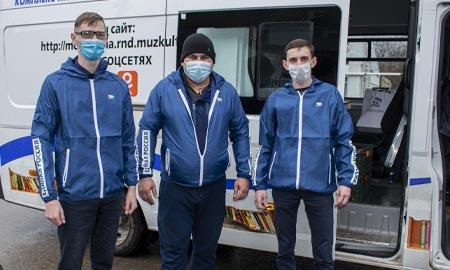 Волонтеры привезли фрукты коллективу инфекционного госпиталя в Целинском районе