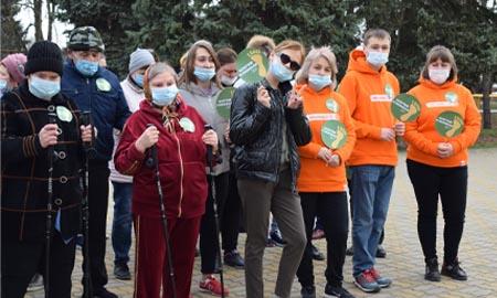 В Целинском районе прошла акция «Десять тысяч шагов к жизни»