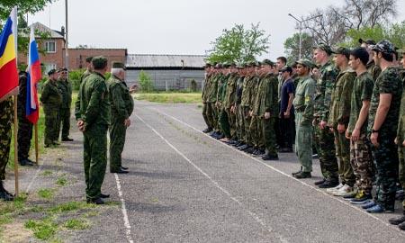 В Целинском районе стартовали военно-полевые сборы для учеников десятых классов