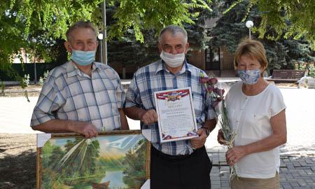 С юбилеем поздравили члены первичной организации ветеранов Целинского района коллегу