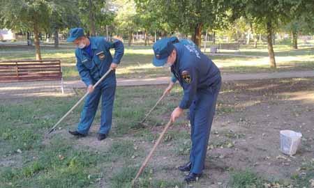 Сотрудники подразделений Целинского пожарно-спасательного гарнизона приняли участие в экологической акции «Зеленая Россия»